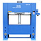 200 Ton H Frame hydraulic press showing safety features